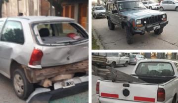 Imagen de Choque en cadena en el centro de General Madariaga: tres vehículos involucrados
