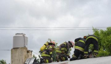 Imagen de Tres dotaciones combatieron un incendio en una vivienda de Madariaga