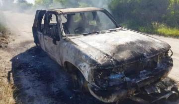 Imagen de Ruta 11: hallaron un cuerpo calcinado en el interior de una camioneta