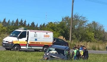 Imagen de Dos automóviles chocaron en la Ruta 2