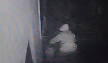 """Imagen de Villa Gesell: cámara de seguridad """"pescó"""" a un """"roba garrafas"""""""