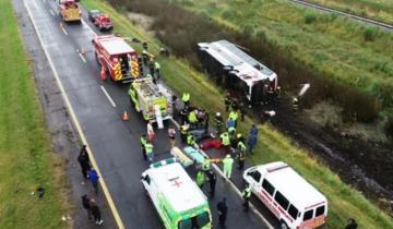Imagen de Excarcelaron al conductor del colectivo que volcó en la Ruta 2