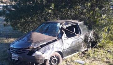 Imagen de Un hombre está grave tras volcar su vehículo en la Ruta