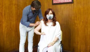 Imagen de Cristina Fernández se vacunó en el Hospital Presidente Perón de Avellaneda