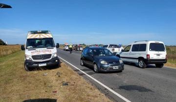 Imagen de Dos menores heridos en un accidente de tránsito en la Ruta 11