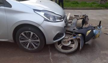 Imagen de Dolores: Dos heridos en un accidente de tránsito
