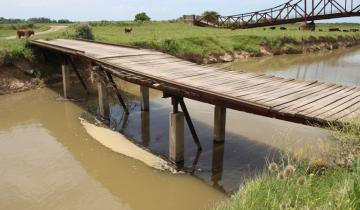 Imagen de Madariaga: evalúan reparar el puente auxiliar de San José de Herrera