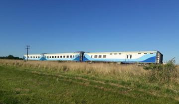 Imagen de Descarriló en Dolores un tren que unía Mar del Plata con Buenos Aires: no hay heridos