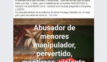 Imagen de Escrache en redes: una joven geselina acusó a su padre de abuso sexual