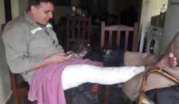 Imagen de Lo atropelló una moto en Castelli y ahora espera su operación