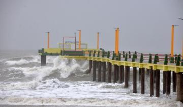 Imagen de Rige un alerta por tormentas y vientos fuertes en la Costa Atlántica
