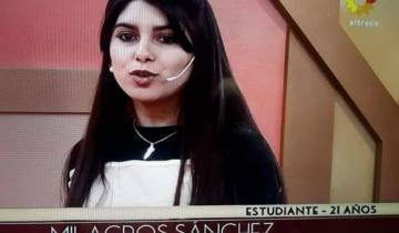 Imagen de Una joven de Sevigné, participante de un Reallity Show de Canal 13