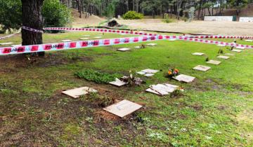 Imagen de Vandalizaron 5 tumbas en el cementerio de Pinamar