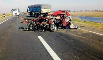 Imagen de Cuatro personas murieron en un accidente en la Ruta Nacional 3