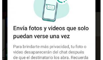 Imagen de Nueva función de WhatsApp: cómo enviar fotos y videos que desaparecen después que son vistos
