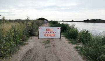 Imagen de En Castelli se cerró al tránsito el terraplén sur del Canal 15