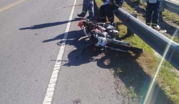 Imagen de Dos heridos tras un accidente de moto en la Ruta 2