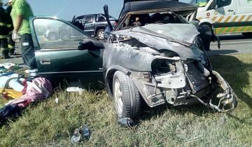 Imagen de Feriado de carnaval: varios autos involucrados en un múltiple accidente en la Ruta 11, con varios heridos
