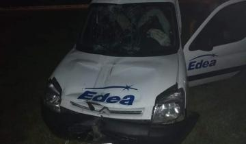 Imagen de Dos heridos en un accidente en la Ruta 2