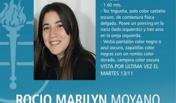 Imagen de Intentan determinar si Rocío Moyano salió de la provincia de Buenos Aires