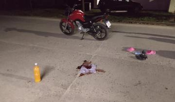 Imagen de Dolores: una joven accidentada por chocar un perro con su moto