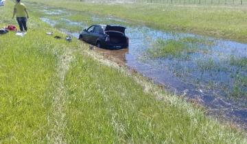 Imagen de Ruta 2: despistó un automóvil y terminó en una cuneta