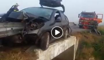 Imagen de Impactante accidente en la Ruta 41: un herido de gravedad