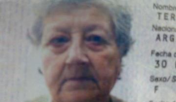 Imagen de Desapareció una mujer de 72 años y la buscan desesperadamente