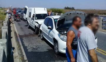 Imagen de Otro choque en cadena: siete heridos en la Ruta 11