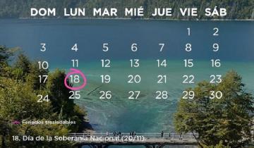 Imagen de Calendario oficial: ¿es feriado el lunes 18 de noviembre?