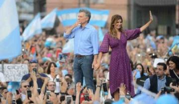 Imagen de Macri se despidió con una marcha en Plaza de Mayo