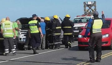 Imagen de Dos heridos tras un accidente en Ruta 11