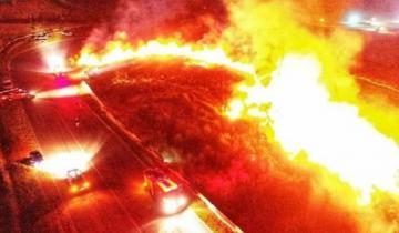 Imagen de Gigantesco incendio en el autódromo de Balcarce: no se reportaron heridos