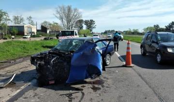 Imagen de Fuerte accidente en la Ruta 2