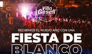 """Imagen de Villa Gesell celebrará el año nuevo con la """"Fiesta de Blanco"""""""