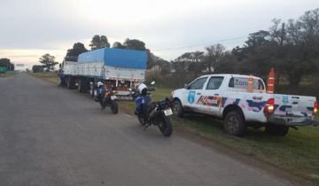 Imagen de Le retienen la licencia a un camionero: iba a más de 120 km/h por la Ruta 56