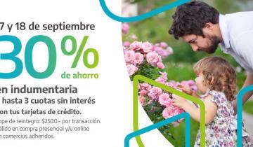 Imagen de Banco Provincia: 30% de descuento y cuotas en indumentaria