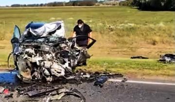 Imagen de Quequén: un muerto en un choque entre dos autos en la ruta 88