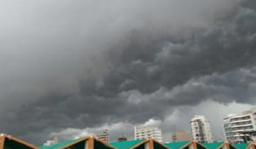 Imagen de Alerta meteorológico por tormentas fuertes en el sudeste de la Provincia