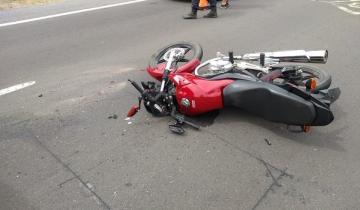 Imagen de Chocaron dos motos de frente y uno de los conductores murió en el acto
