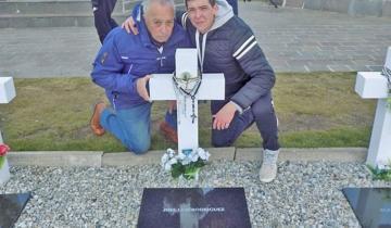 Imagen de El padre del soldado Rodríguez logró viajar a la tumba de su hijo en Malvinas