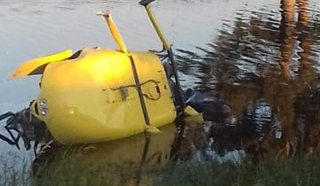 Imagen de Se cayó un helicóptero con una familia a bordo