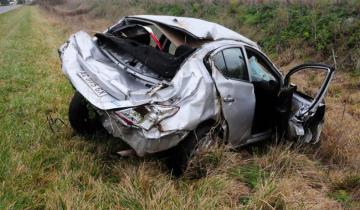 Imagen de Un hombre resultó herido tras volcar cerca de Tandil