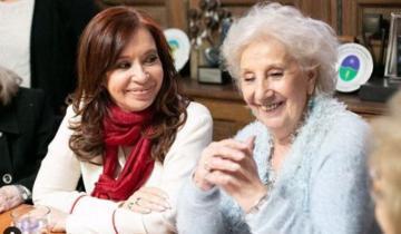 Imagen de Cristina Kirchner saludó a Estela de Carlotto por su cumpleaños