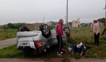 Imagen de Vuelco y despiste en la Ruta 11 deja como saldo una mujer herida