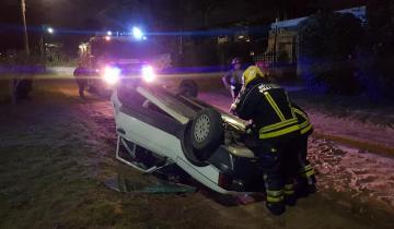 Imagen de Tres heridos tras un vuelco ocurrido en Villa Gesell