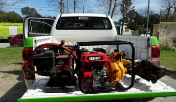 Imagen de Se entregó nuevo equipamiento para los bomberos de Tordillo
