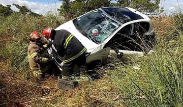 Imagen de Una mujer resultó herida tras un vuelco que se produjo en Ruta 74