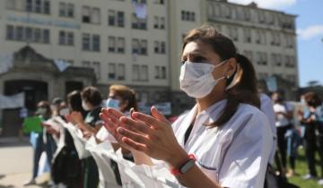 Imagen de Mar del Plata: trabajadores de la salud hicieron un acampe