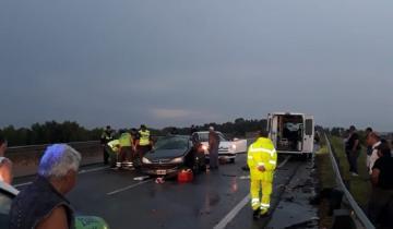 Imagen de Dolores: cuatro heridos en un fuerte accidente en la Autovía 2